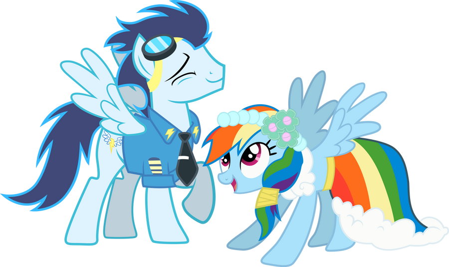 ''Soarin and Rainbow Dash'' by RainbowPlasma on DeviantArt