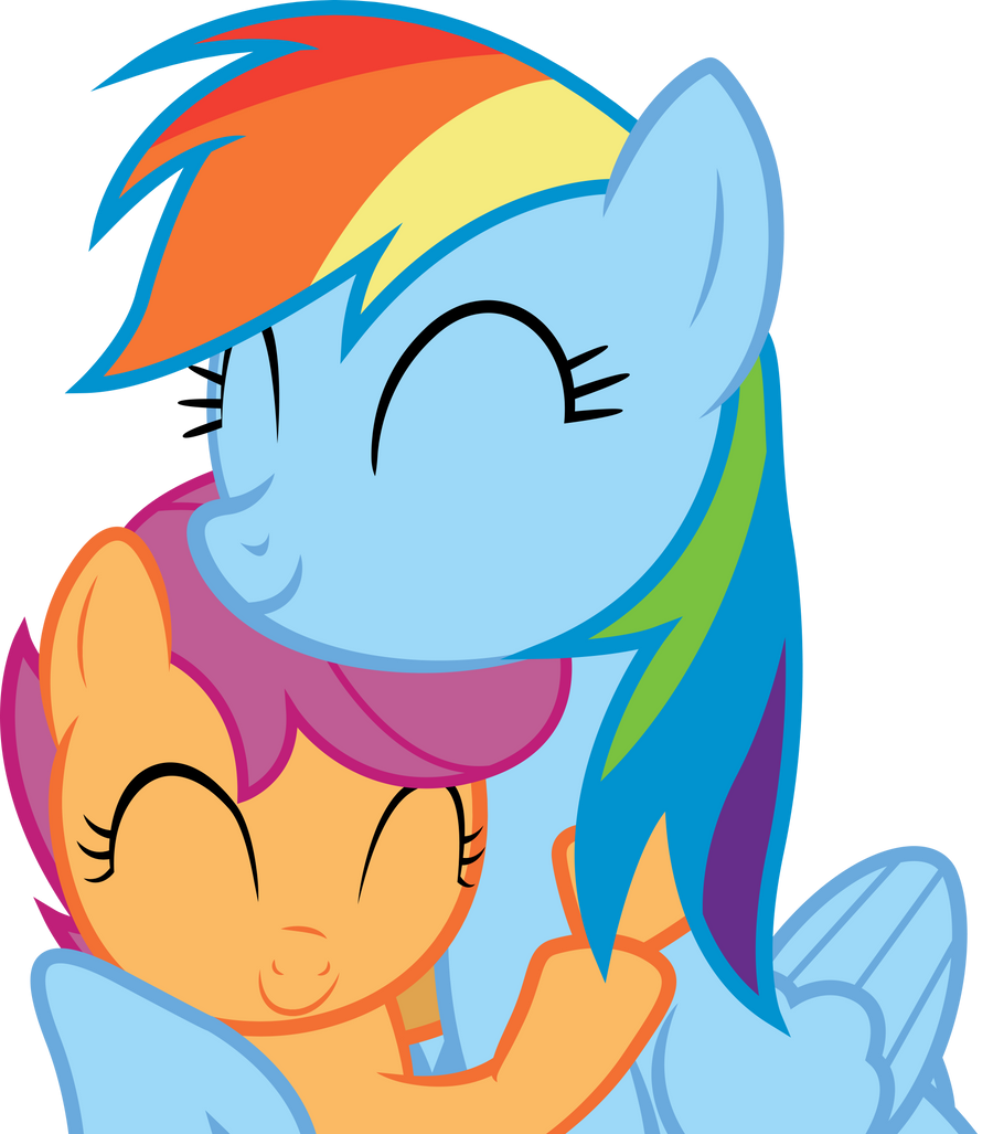 scootaloo and rainbow dash coloring pages - photo #34