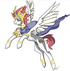 Pharaoh Atem Pony by yugiohwolves