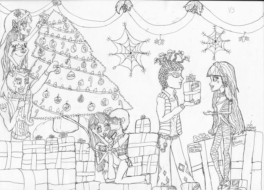 second try Monster high christmas/Screamas by blue-angel2 on ...