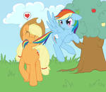 Applejack an Rainbow Dash