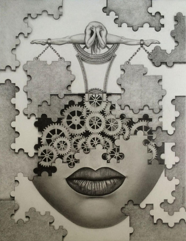The puzzle by greyfell fine art on deviantart