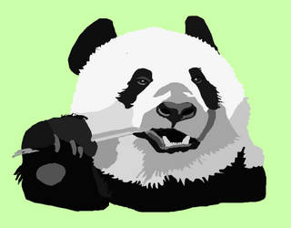 Panda Vector by BradIsNotAnArtist