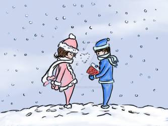 Snowy Valentine.:Contest Entry:. by Missvirginia