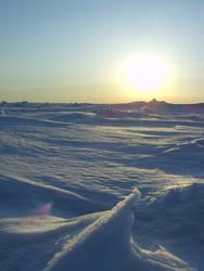 Sun on ice 11 by Arctic-Stock