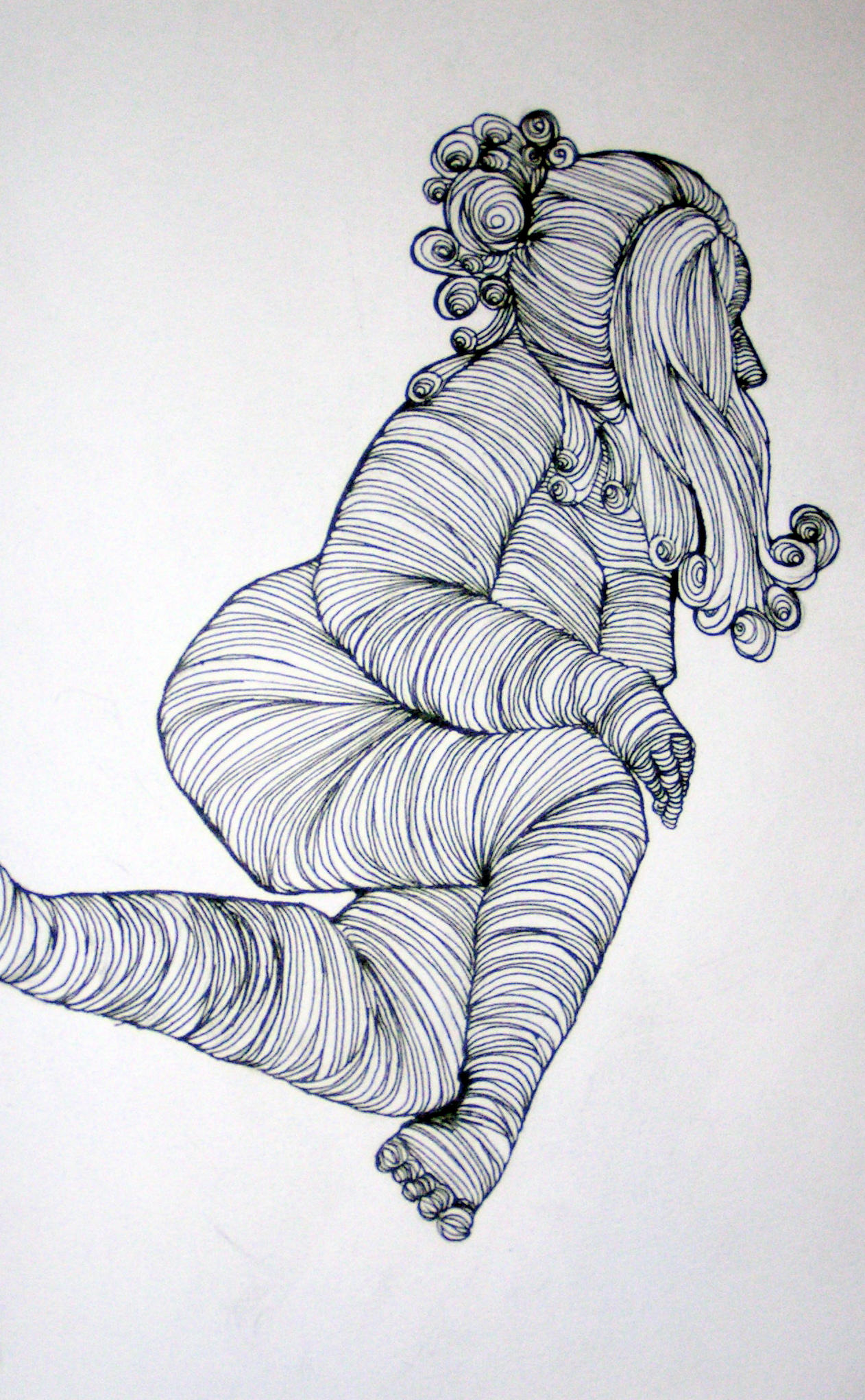 Contour Line Drawing People : Cross contour by scalenetristy on deviantart
