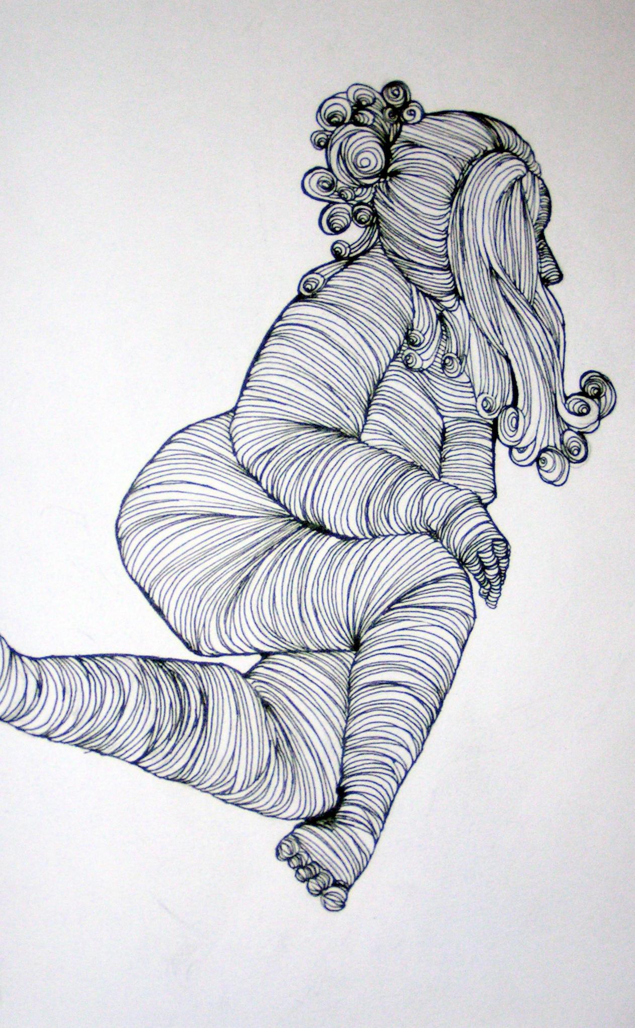 Contour Line Drawing Person : Cross contour by scalenetristy on deviantart