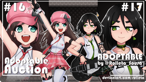 [OPEN] DUO ADOPTABLE AUCTION #16/#17 [OPEN] by Rolleta