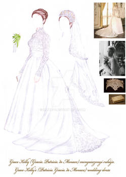 Grace Kelly's bridal gown