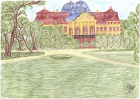 Castle Park - Hungary - Paper doll background