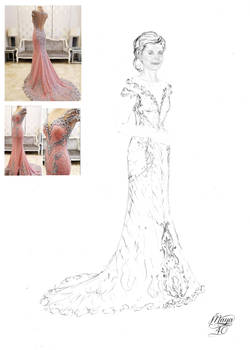 Pink-silver gown