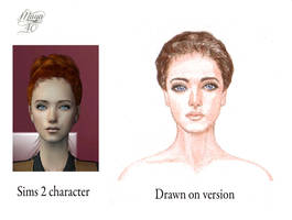 Sansa from my Sims 2 game