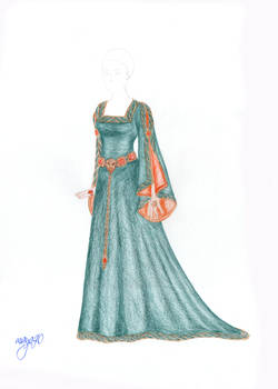 Cersei Green gown