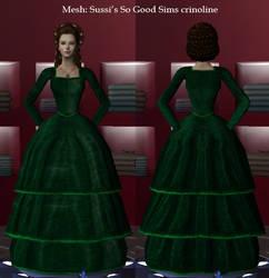 Green velvet daydress by maya40