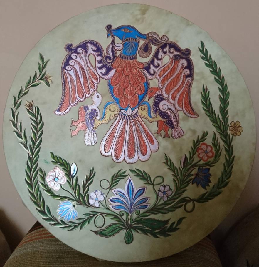 Hand painted shaman drums by maya40