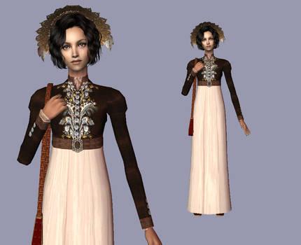 Brown Spencer - Regency dress