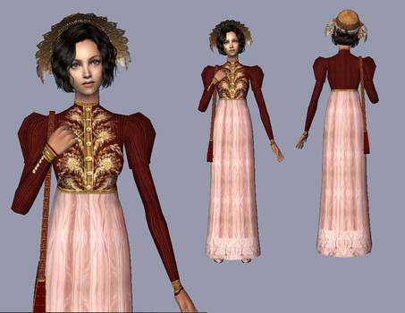 Red Spencer  - Regency dress