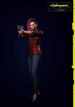 Corporate V (Female) 2 From Cyberpunk 2077