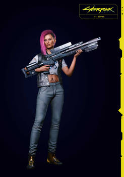 Nomad V (Female) 1 From Cyberpunk 2077