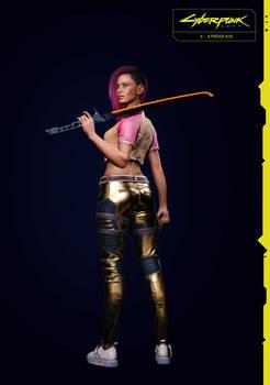 Street Kid V (Female) 1 From Cyberpunk 2077