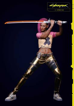 Street Kid V (Female) 2 From Cyberpunk 2077
