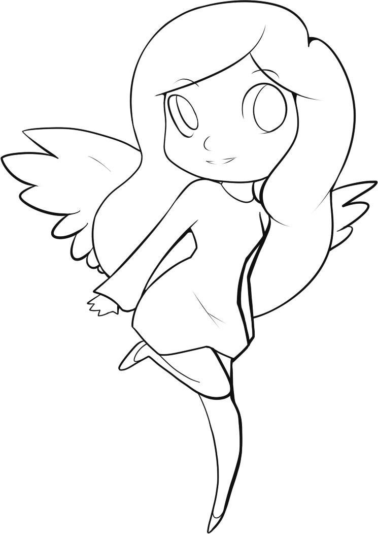 Line Drawing Backgrounds : Cute angel lines no background by dawnieda on deviantart