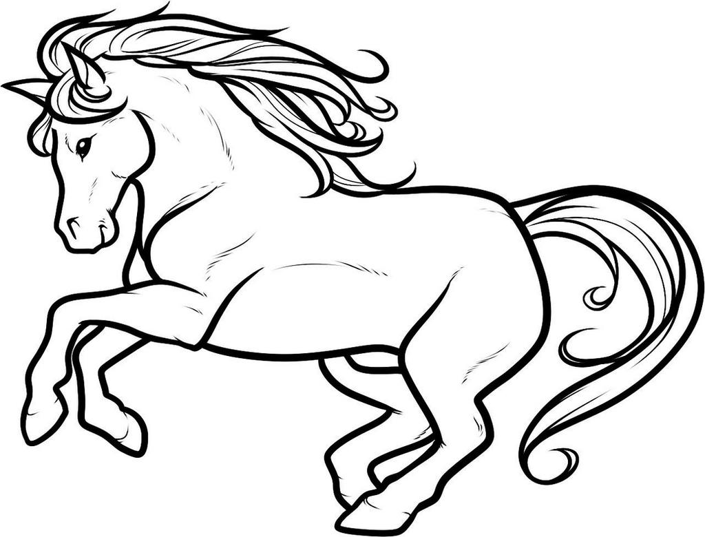 Horsey- White BG by DawnieDA