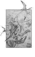 Ceratosaurus and Miragaia by Caarnicolaas