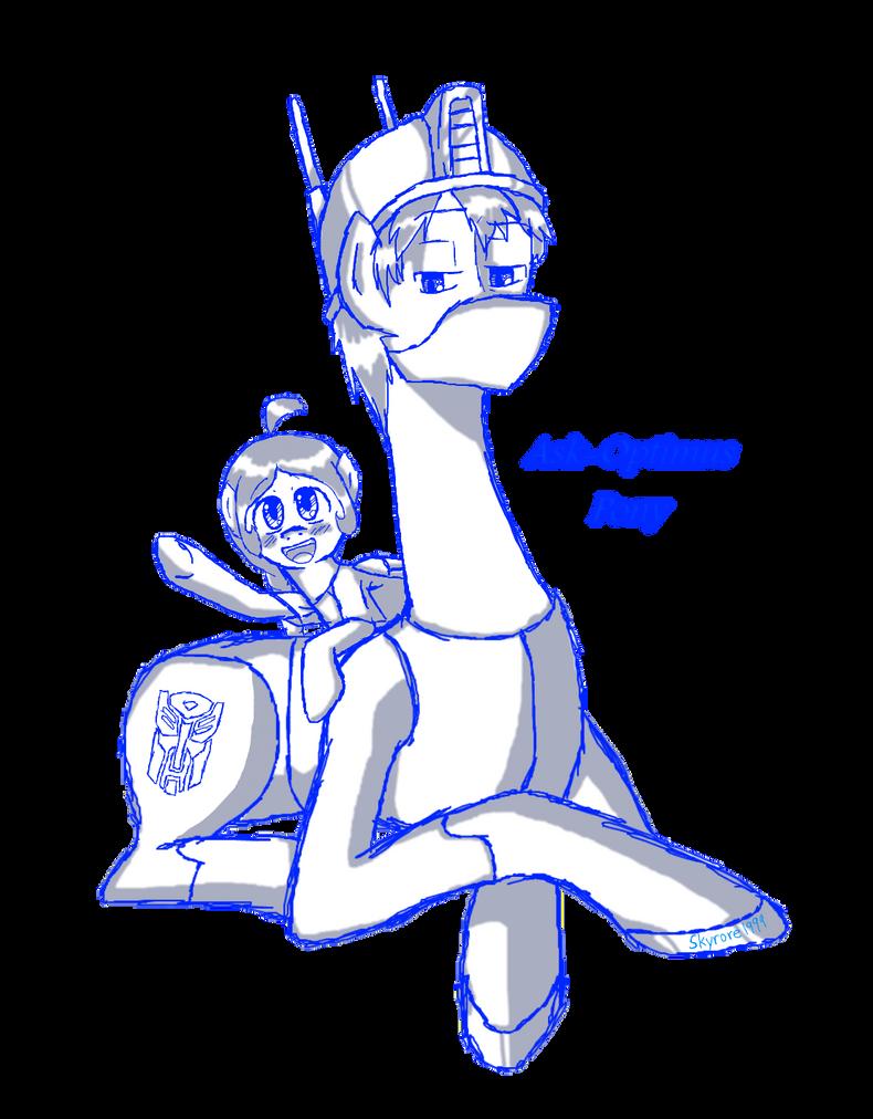 Ask Pony Optimus Prime. by skyrore1999