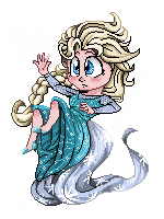 Pixel Art Elsa by skyrore1999