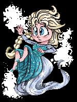 Pixel Art Elsa by skyrore1999