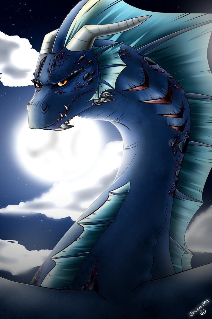 Dragon Drawing (speedpaint) by skyrore1999
