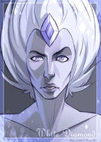 White Diamond Portrait by SkyroreDraws
