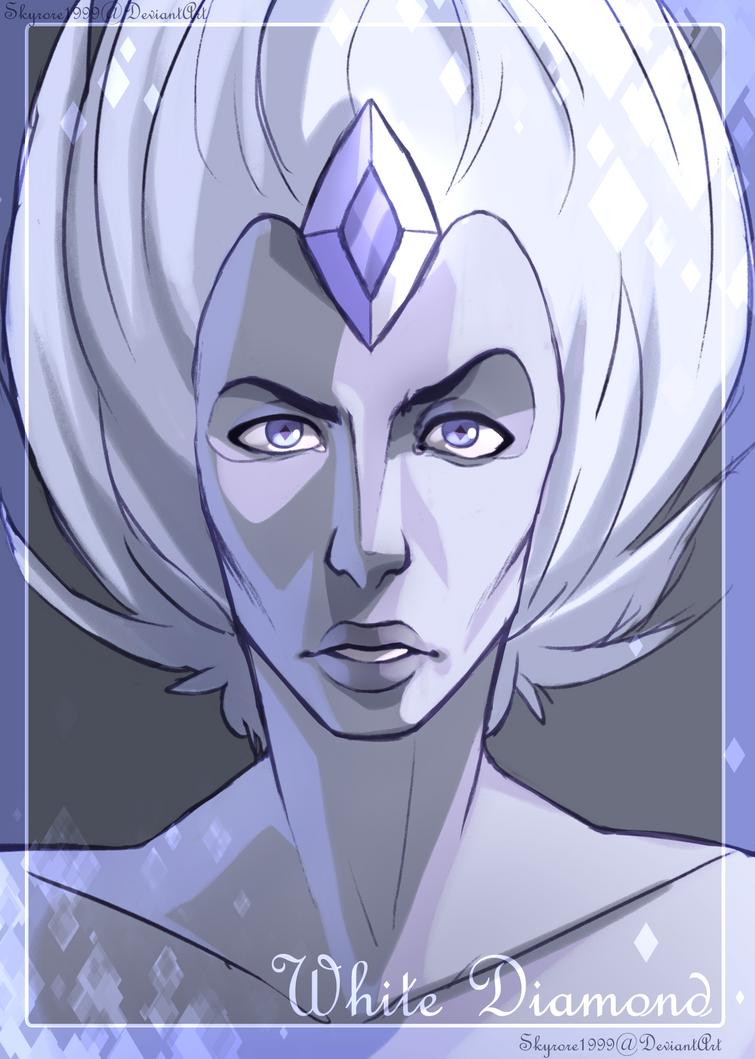 White Diamond Portrait by skyrore1999