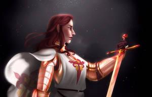 Helaine the Knight by SkyroreDraws