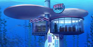 Wave Stop - Underwater Convience Store Concept Art