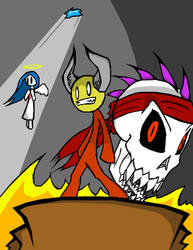Radiskull and Devil Doll by ManyNekoZ