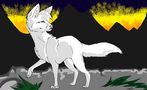 Fleeing the Flames Wolf Base by TikTaaliik