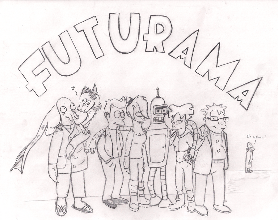 coloring pages of futurama - photo#26