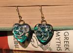 Steampunk Heart Earrings