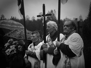 funeral in village...