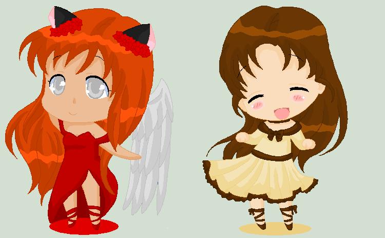 Christmas Chibi: Kotomi and Kinzoku by MahouChikara