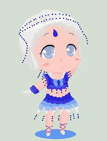 Christmas Chibi: Sailor Aquastorm by MahouChikara