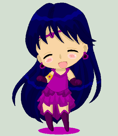 Christmas Chibi: Sailor Nemesis by MahouChikara