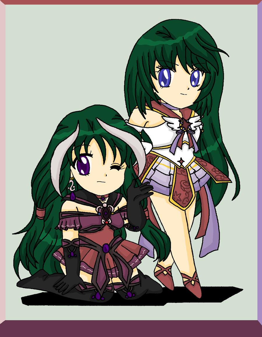 Chibis Asteria and Tejina by MahouChikara