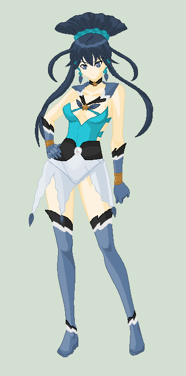 pixel_Sailor Helium Bluejay by MahouChikara
