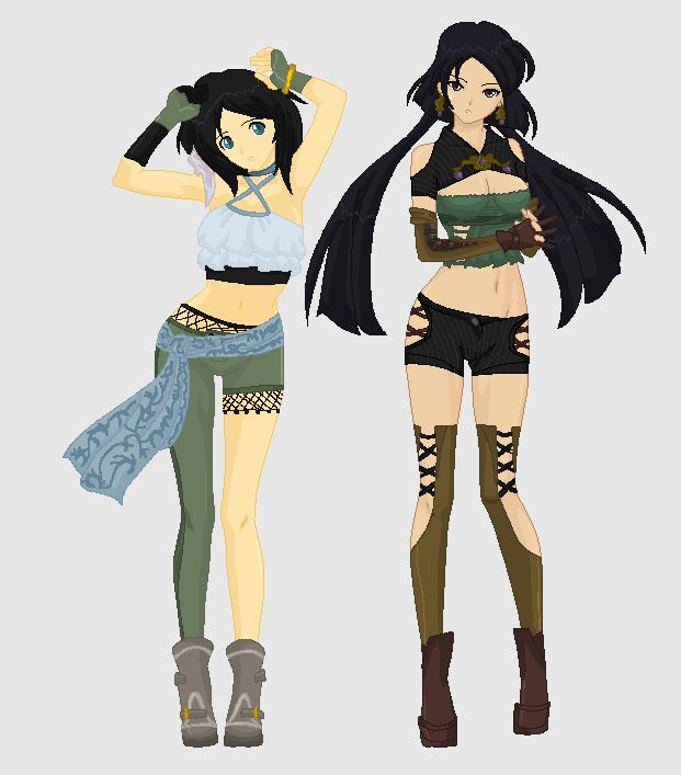 Duos: Sabelle and Alyssa by MahouChikara