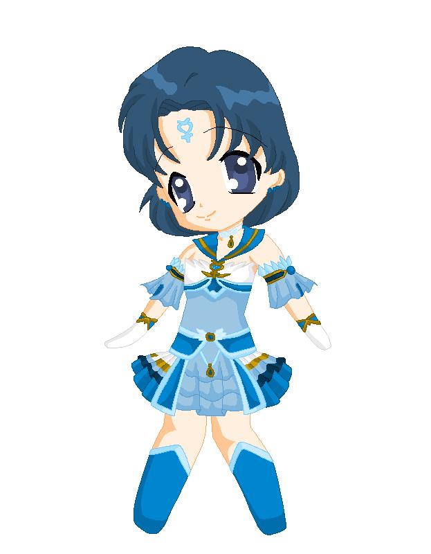 Chibi: Brillare Sailor Mercury by MahouChikara