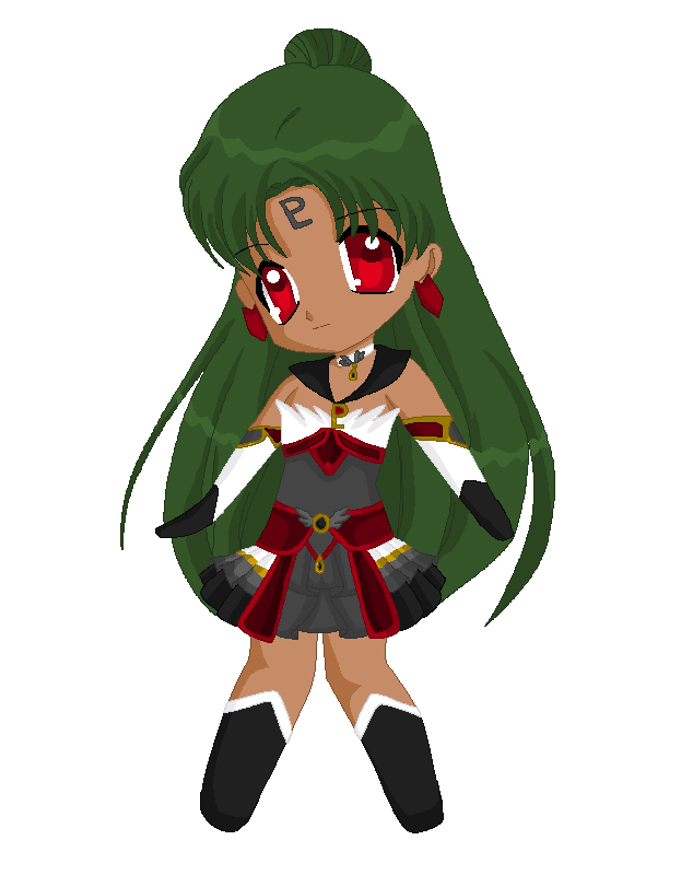Chibi: Brillare Sailor Pluto by MahouChikara