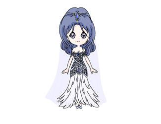 Chibi: Bride Mikomi by MahouChikara
